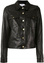 Frame buttoned jacket - women - Leather - XS