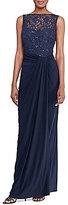 Lauren Ralph Lauren Shirred Jersey Sequin Gown