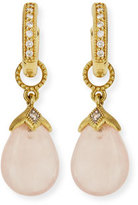 Jude Frances Rose Quartz Briolette Earring Charms