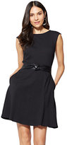 New York & Co. Cotton Bateau-Neck Fit & Flare Dress