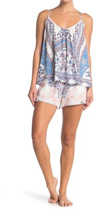 Jonquil Floral Camisole & Shorts 2-Piece Pajama Set