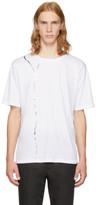 Haider Ackermann White Metallic Graphic T-shirt