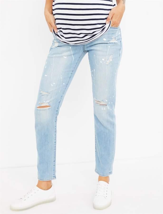 7d3f0844e32e6 Maternity Boyfriend Jeans - ShopStyle