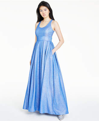 Morgan & Company Juniors' Pleated Shine Gown