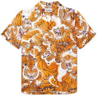 Wacko Maria + Tim Lehi Camp-Collar Printed Woven Shirt