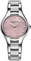 Raymond Weil Women's Swiss Noemia Diamond Accent Stainless Steel Bracelet Watch 32mm 5132-ST-80081