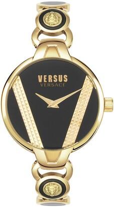 Versus By Versace Women's Saint Germain Gold-Tone Stainless Steel Bangle Bracelet Watch 36mm