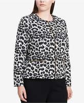 Calvin Klein Plus Size Animal-Print Blazer