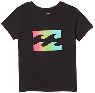 Billabong Kids Team Wave T-Shirt (Toddler/Little Kids) (Black) Boy's Clothing