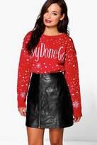 Boohoo Charlotte #Boydonegood Christmas Jumper red