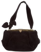 Alaia Small Lizard Trimmed Shoulder Bag