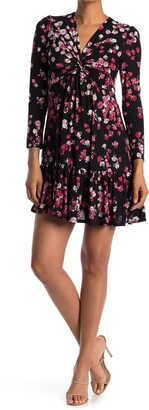 Gabby Skye Long Sleeve Floral Jersey Dress