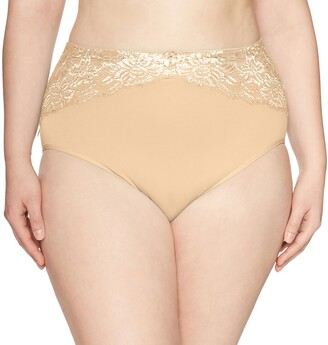 Ahh By Rhonda Shear Women's Seamless Brief w/Lace Inset
