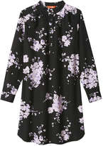Joe Fresh Women's Floral Print Shirt Dress, Black (Size M)