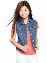Old Navy Medium-Wash Denim Vest for Girls