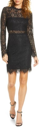 Lulus Appetite for Seduction Lace Long Sleeve Dress