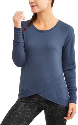 Avia Women's Athleisure Soft French Terry Tulip Hem Tunic Sweatshirt