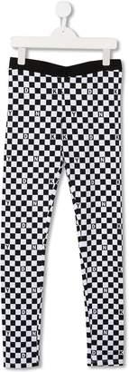 DKNY TEEN checked leggings
