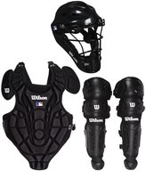 Wilson EZ Gear Youth Catcher's Kit, Black - Large-XL