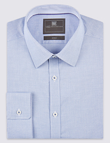 Limited Edition Tailored Fit Long Sleeve Textured Shirt