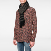 Paul Smith Men's Black And Taupe Graduated Double Stripe Cashmere Scarf