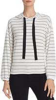 Michelle by Comune Malone Striped Hoodie Sweatshirt