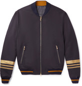 Dolce & Gabbana Embroidered Wool-Blend Bomber Jacket