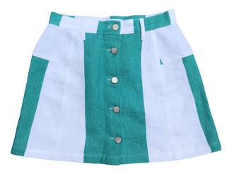 Etudes Studio Green Denim - Jeans Skirts