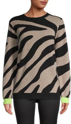 Brodie Cashmere Lulu Zebra-Print Cashmere Sweater
