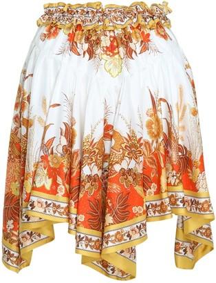 Zimmermann Brightside Angled Hem Skirt