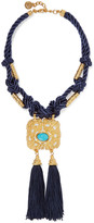 Ben-Amun Cord, gold-plated, stone and tassel necklace