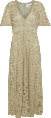 Valentino Metallic Lace Midi Dress