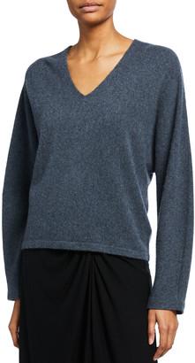 Vince Cashmere Dolman-Sleeve V-Neck Sweater