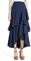 Alice + Olivia Women's Martina Ruffled Maxi Skirt
