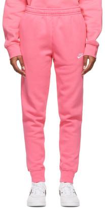 Nike Pink Sportswear Club Jogger Lounge Pants