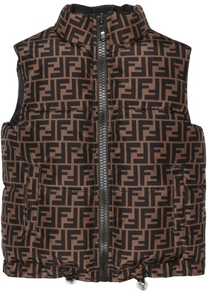 Fendi Kids Reversible puffer vest