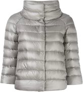 Herno cropped sleeve padded jacket - women - Feather Down/Polyamide - 44