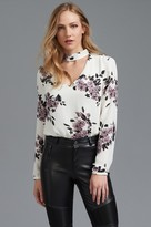 Dynamite Choker Blouse with Cutout
