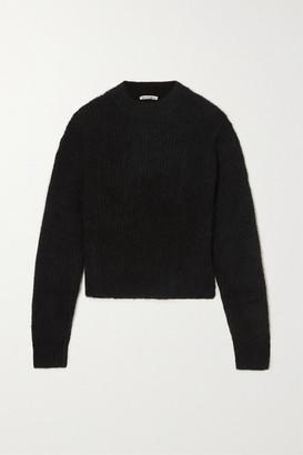 Reformation Finn Ribbed Alpaca-blend Sweater - Black