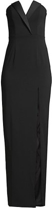 Jay Godfrey Sylvia Tuxedo Lapel Column Dress