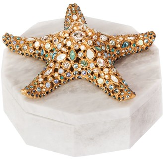 Jay Strongwater Charlene 14K Yellow Gold & Swarovski Crystal Starfish Box