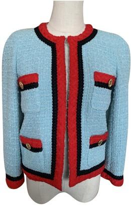 Edward Achour Turquoise Tweed Jacket for Women