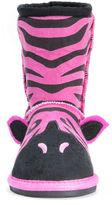 Muk Luks Zoo Babies Girls Zebra Boots - Toddler