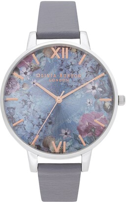 Olivia Burton Under the Sea Faux Leather Strap Watch, 38mm