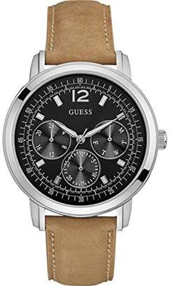 GUESS Men's Analogue Quartz Watch with Leather Strap W0790G1