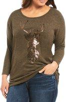 Moa Moa Plus Sequin Deer Head Tunic