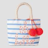 Cat & Jack Toddler Girls' Striped Bag Cat & Jack - Blue & White