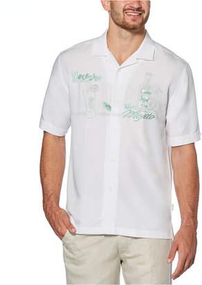 Cubavera Men Embroidered Camp Shirt