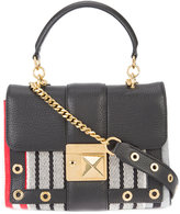 Sonia Rykiel stripe shoulder bag - women - Leather/Canvas - One Size