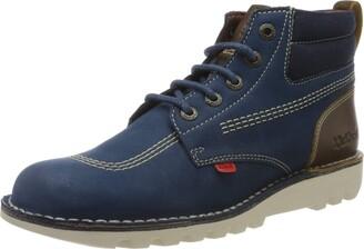 Kickers Men Kick Hi Mash Up Classic Boots Blue (Blue Blu) 7 UK